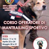 Corso Operatore di Mantrailing Sportivo