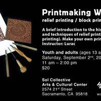 Printmaking Workshop Relief Printing  Block Printing
