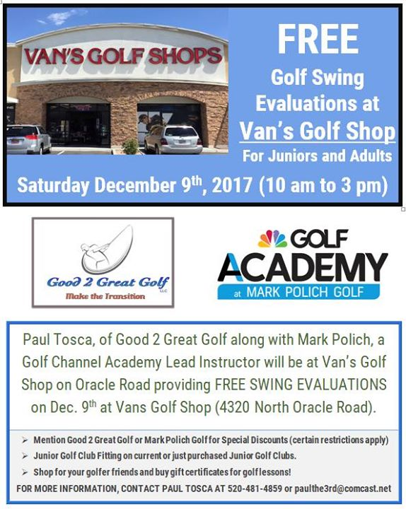 cc12bf4ad91c Free Golf Swing Evaluations at Van s Golf Shop!