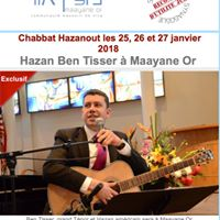 Chabbat Hazanout  Maayane Or