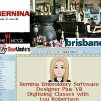 Bernina Digitizing Classes In Brisbane Tuesday 31.10.17