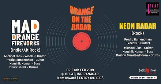 Orange on the Radar (Double Bill - Alt Rock Rock).