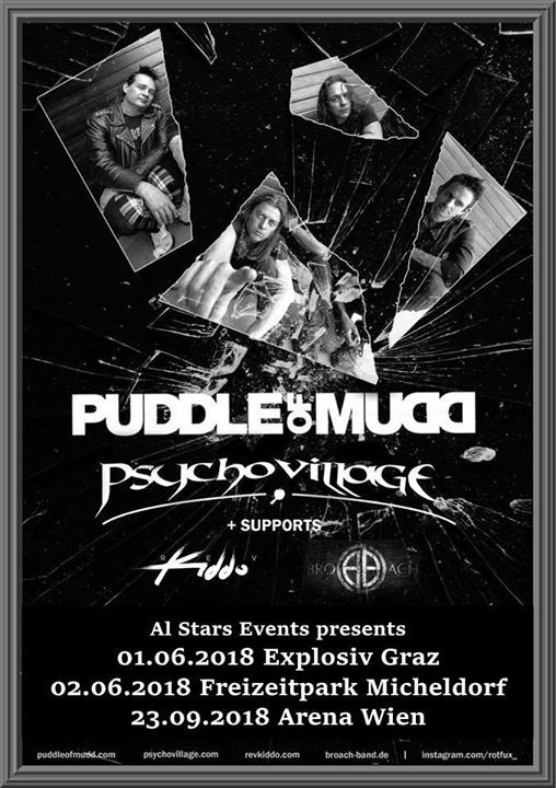 Puddle of Mudd, Psycho Village + Guests live Arena Wien at