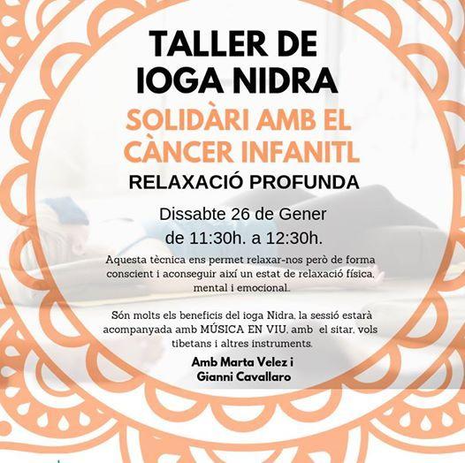 Taller de ioga nidra solidari amb el cncer infantil