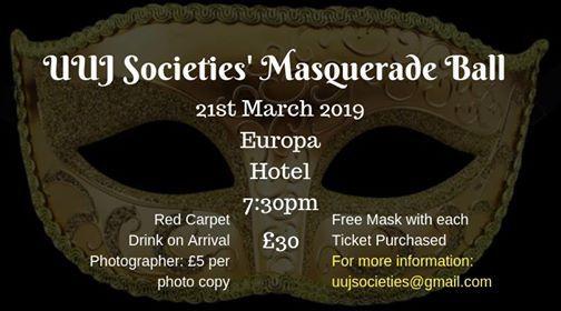 UUJ Societies Masquerade Ball 2019