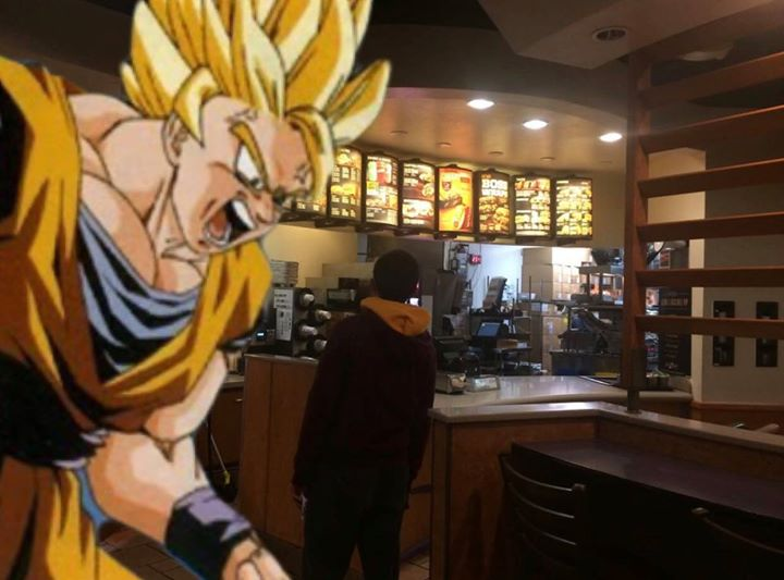 Scream Like Goku at the Taco Bell on Apache and Rural