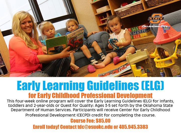 May Online Early Learning Guidelines Elg Class At Osu Okc Training