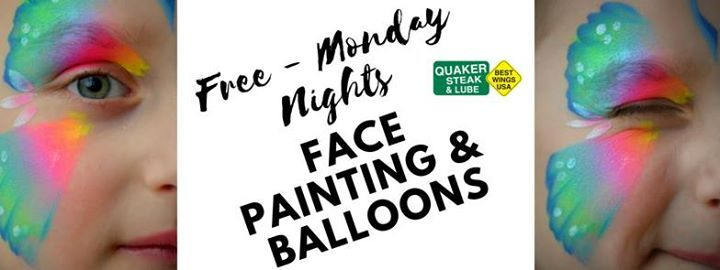 Free Face Painting Every Monday Night At Quaker Steak And Lube