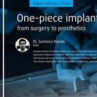 One-piece implant from surgery to prosthetics