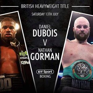 British Heavy Weight Title Saturday 13th July From 7pm