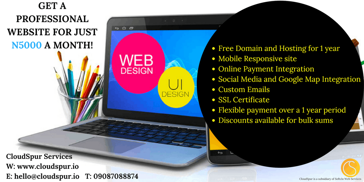PROFESSIONAL WEBSITE FOR JUST N5000 A MONTH