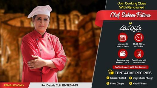 Cooking Class with Chef Sabeen Fatima