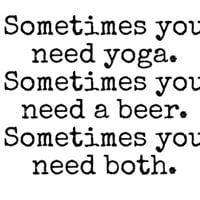 Yoga &amp Booze with Vicky