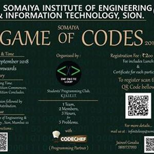 Somaiya Game Of Codes