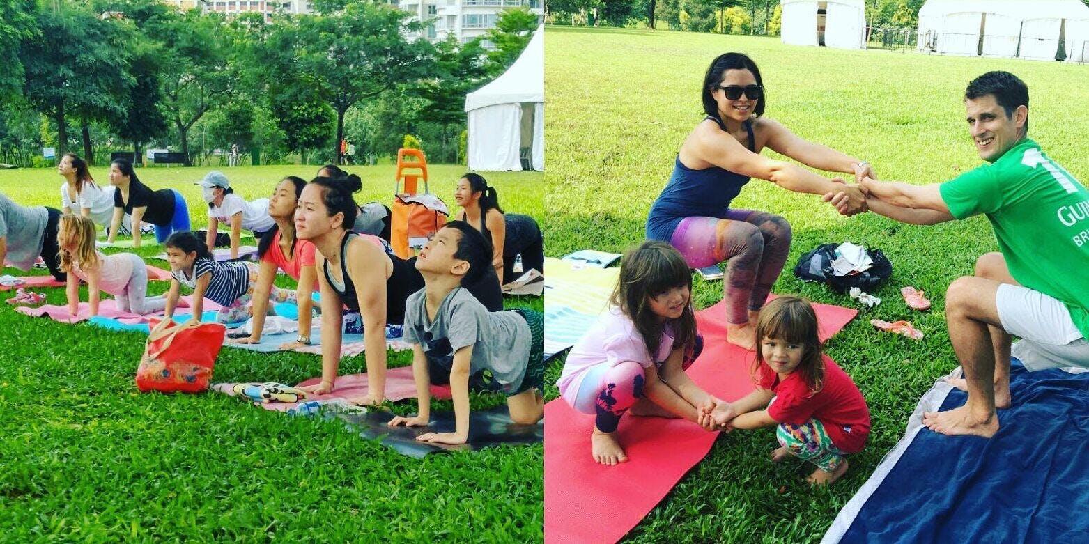 Complimentary Outdoor Family Yoga at Bishan Park (May)