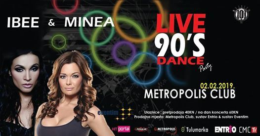 DANCE 90ih Live IBEE i MINEA 02.02.2019.Metropolis club