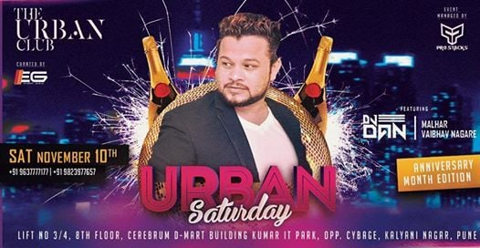 Urban Saturday Anniversary Edition Ft. DJ Dan