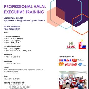 Jakim Halal Executive Training At Menara Arina Uniti Jalan Raja