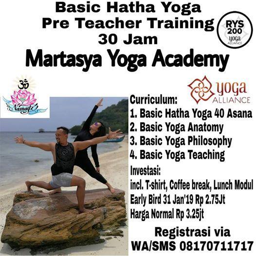Basic Hatha Yoga TTC 30 Jam