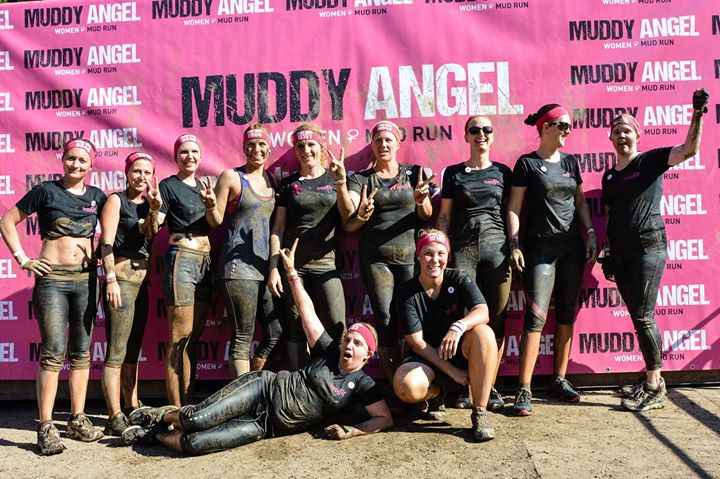 mit unserem buggyfit team zum muddy angel run at munich germany munich. Black Bedroom Furniture Sets. Home Design Ideas