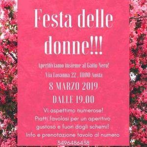 Festa Delle Donne Al Gatto Nero Cafe At Gatto Nero Cafè Aosta