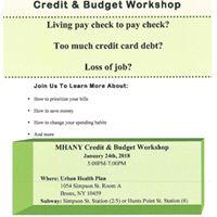 Mhany Credit &amp Budget Workshop