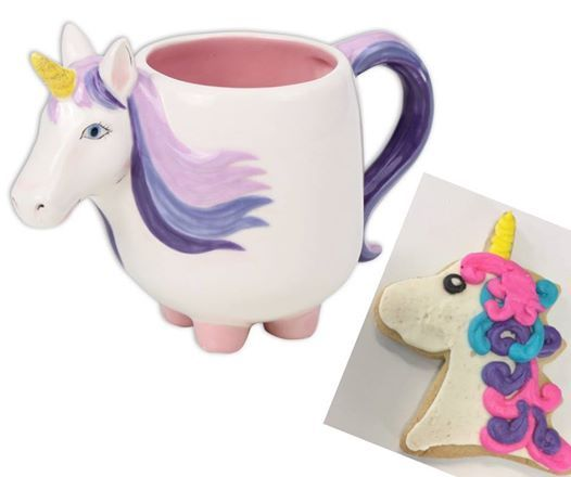 Unicorn Cookie Decorating & Unicorn Ceramic Mug