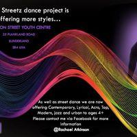 Lambton streetz dance project- class with Rachael 29th April