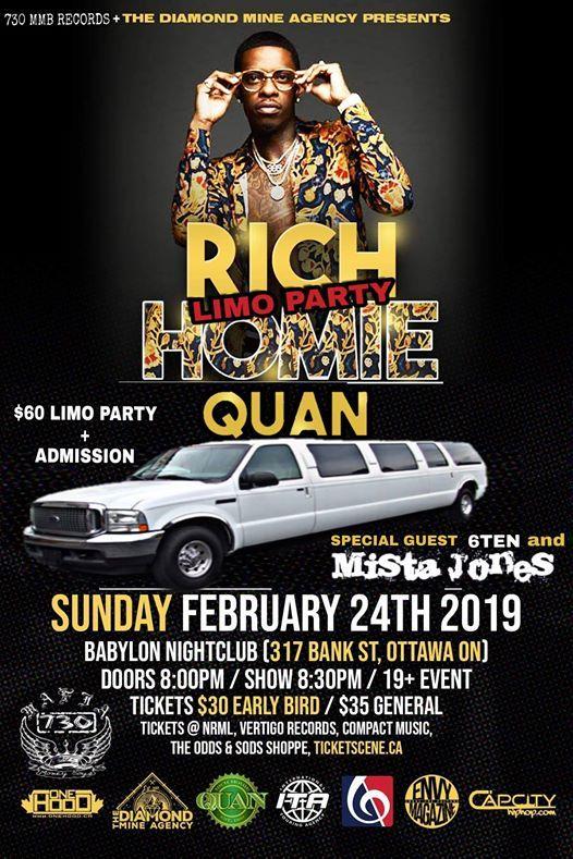 Rich Homie Quan + Mista Jones Limo Party Live In Ottawa 02