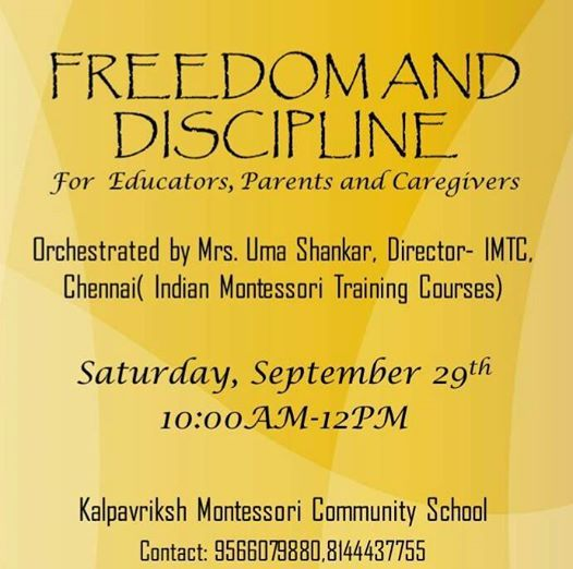 Freedom and Discipline - A Parenting Workshop