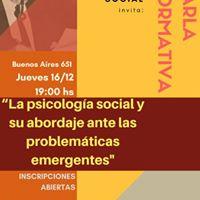 Charla La Ps. Social Y Problematicas Emergentes