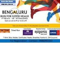 Bengaluru Marathon Run For Good Health 2018