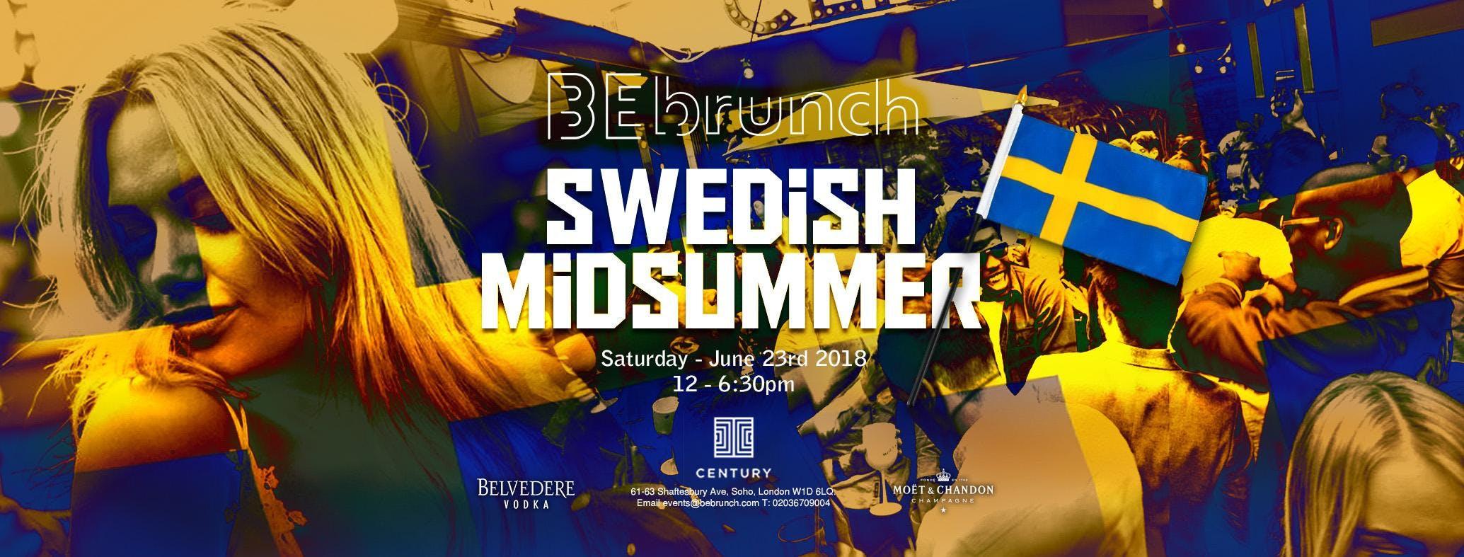 BEbrunch Swedish Midsummer Party Century Club Sat 23rd June