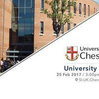 Meet University of Chester at SI-UK Chennai