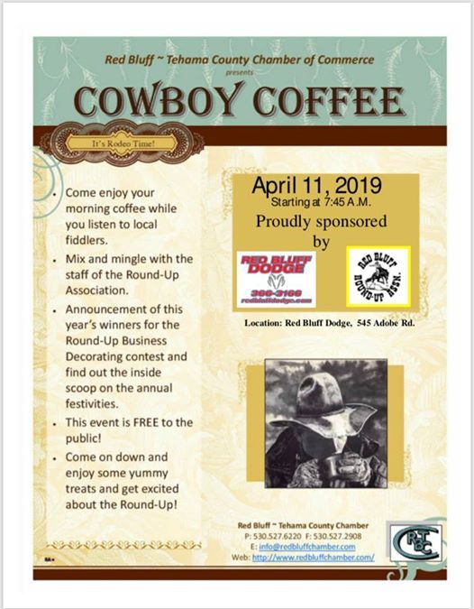 Red Bluff Dodge >> Red Bluff Round Up Cowboy Coffee