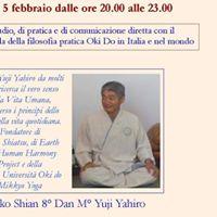 Incontro di studio pratica e di comunicazione con il Maestro Yuji Yahiro.