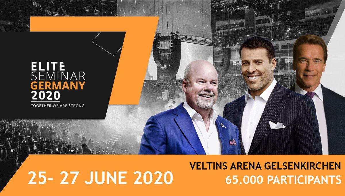 Elite Seminar 2020 with Tony Robbins Arnold Schwarzenegger and Eric W.