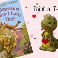 Storytime Pottery Hour - Paint a T-Rex