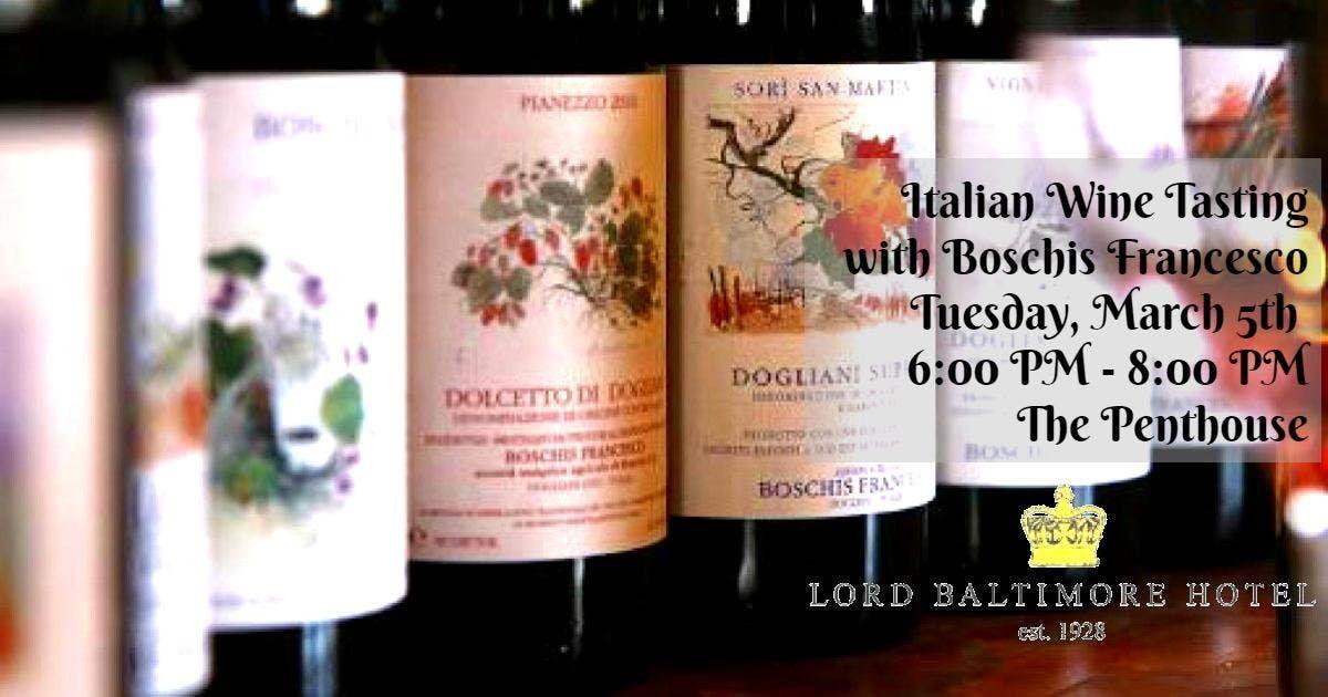 15 Italian Wine Tasting with Boschis Francesco