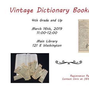 Vintage Dictionary Bookmarks