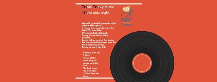 Triple Tricky Music Trivia Quiz Night at The Bankhouse Cafe bar