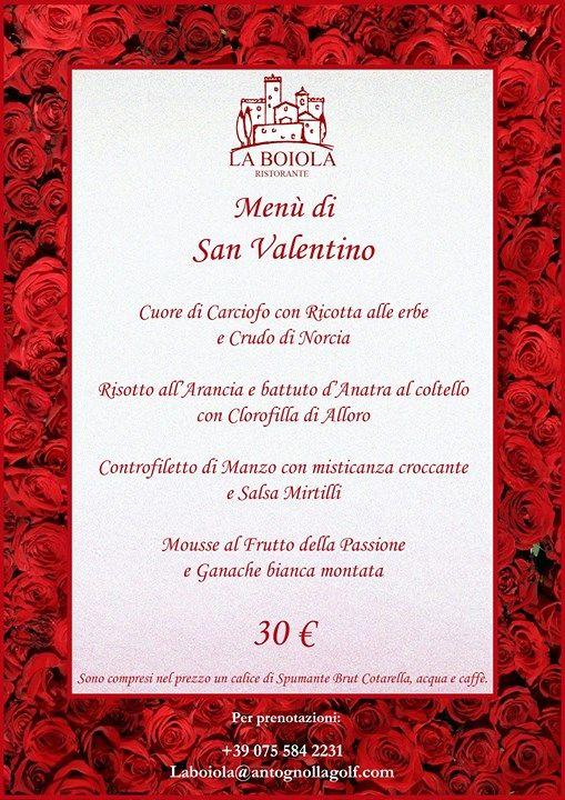 Cena di San Valentino al Ristorante La Boiola