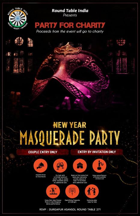 new year masquerade party at anand amusement park durgapur