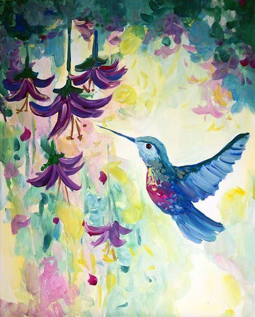 ArtMasters - PAINT PARTY - Leuchtender Kolibri