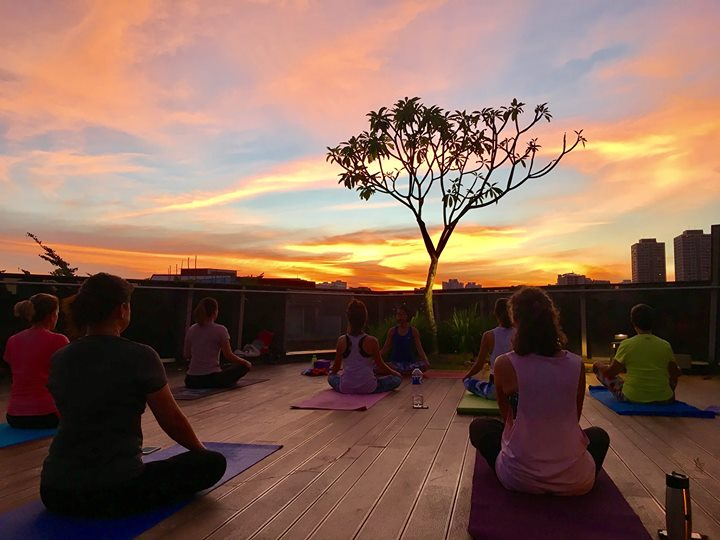 Rooftop Sunset Yoga at myVillage Serangoon Gardens