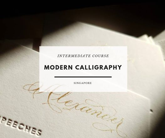 Intermediate Modern Calligraphy Course [3 Tickets Left]