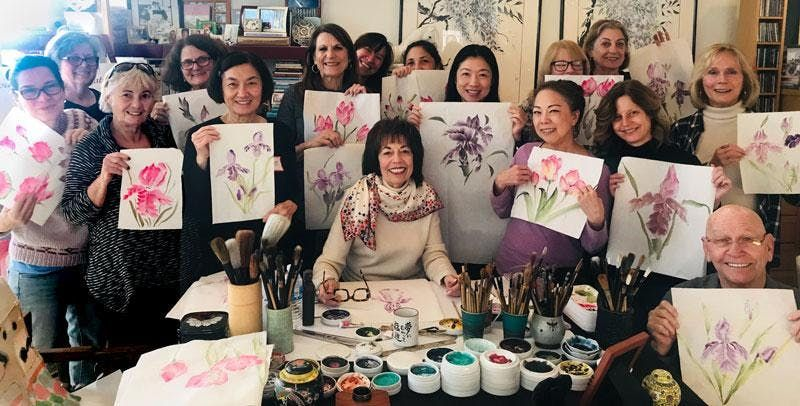 Chinese Brush Painting Class Workshop