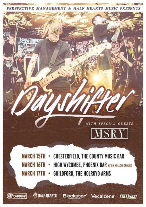 Dayshifter  MSRY UK Tour 2019 (support Omen Machine)