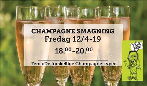 Champagnesmagning fredag d. 12 april 2019