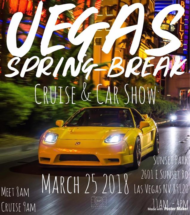 Vegas SpringBreak Cruise Car Show At Sunset Park LV Las Vegas - Car show in vegas today